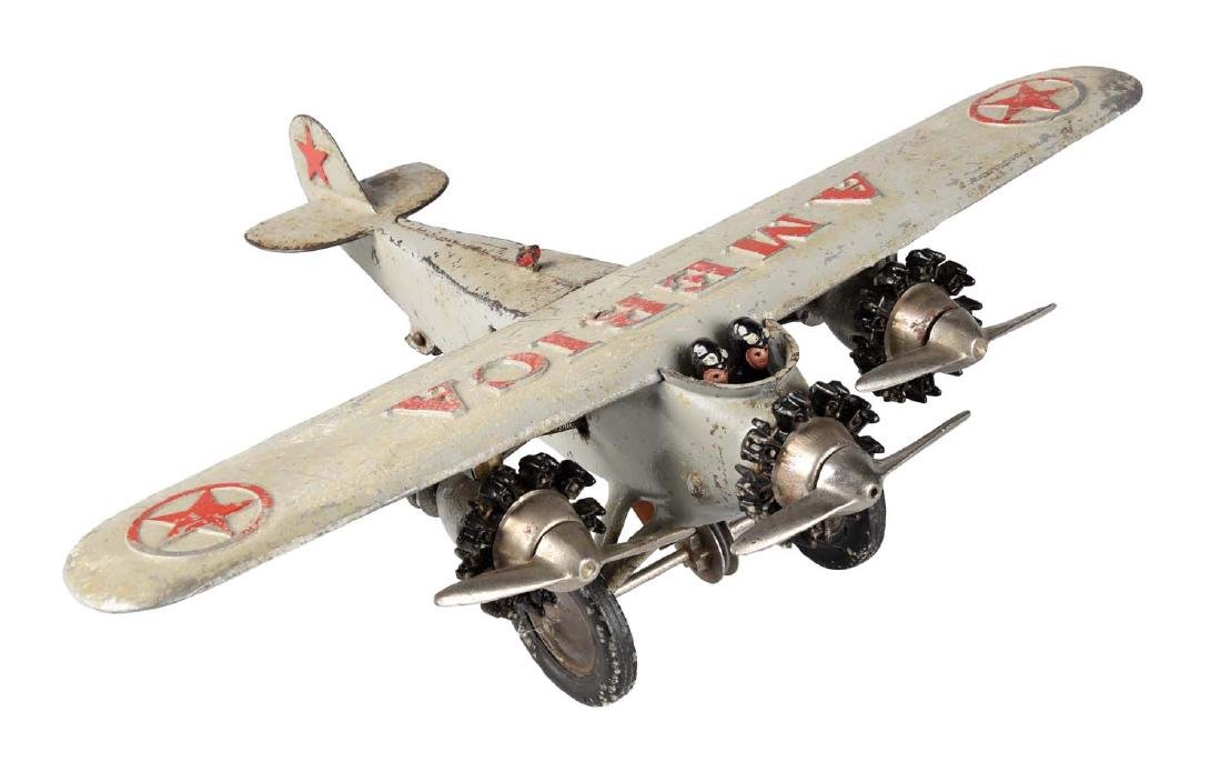 "Hubley ""America"" Tri-Motor Cast Iron Airplane."