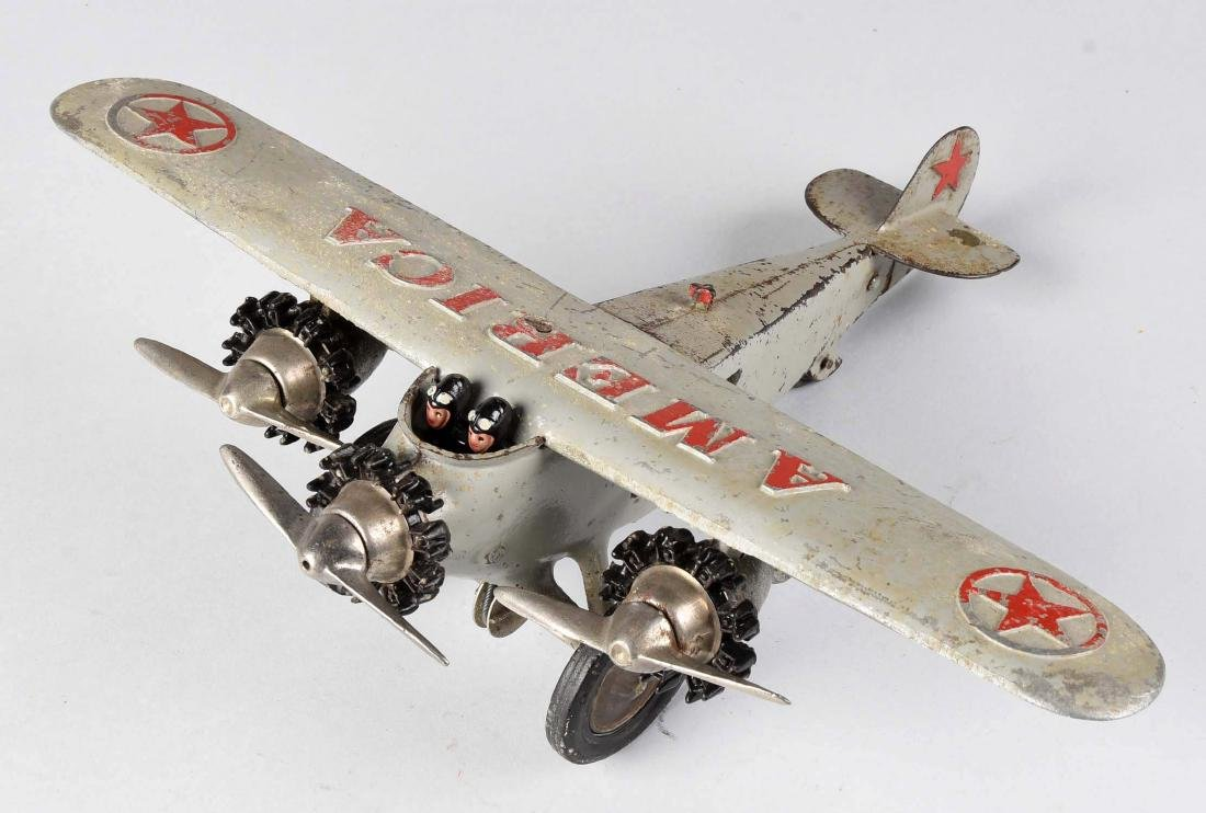 "Hubley ""America"" Tri-Motor Cast Iron Airplane. - 2"