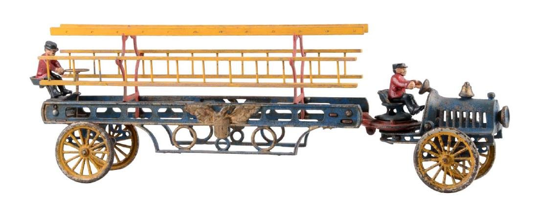 Hubley Cast Iron Transitional Ladder Truck.