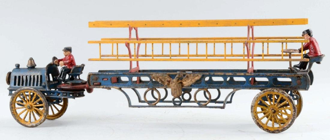 Hubley Cast Iron Transitional Ladder Truck. - 2