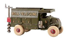 Hubley Cast Iron Large Bell Telephone Truck