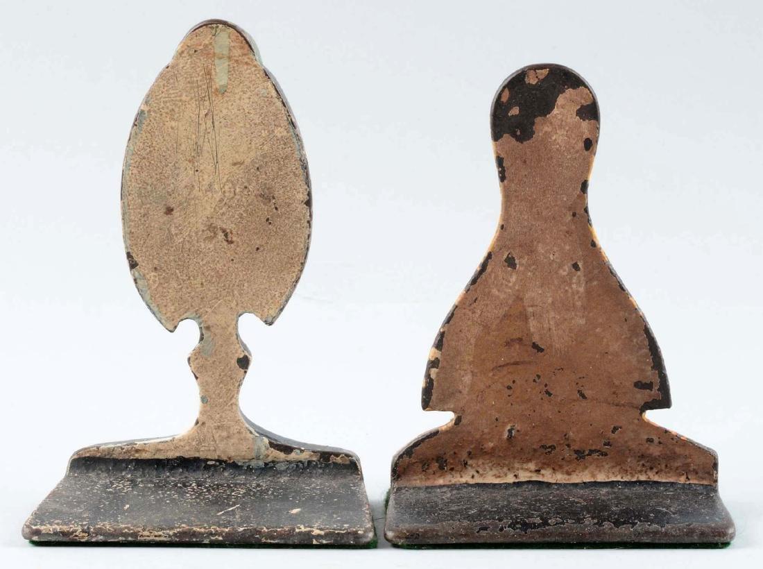 Lot Of 2: Cast Iron Assorted Bird Wedge Children's - 2
