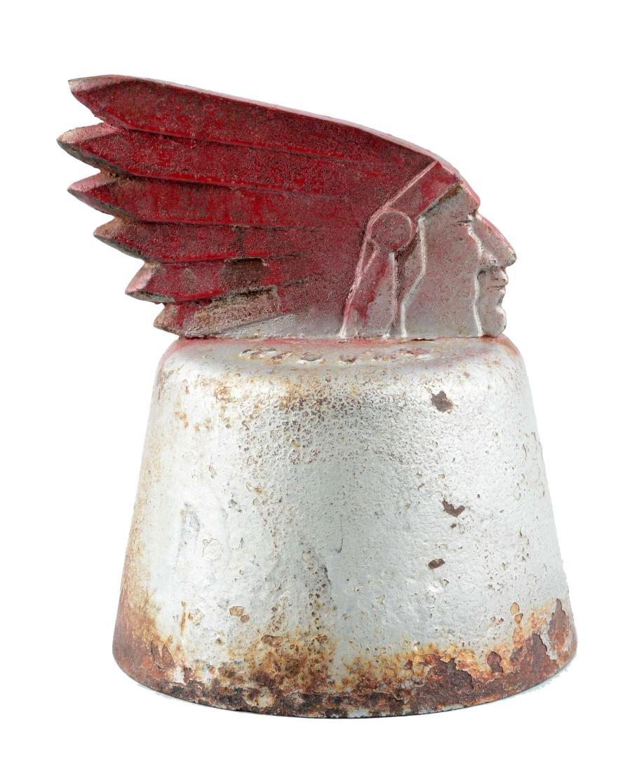 Cast Iron Indian Chief Pipe Cap.