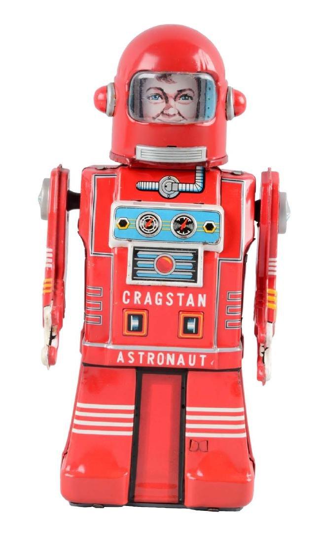 Japanese Tin Litho Friction Cragstan Astronaut.