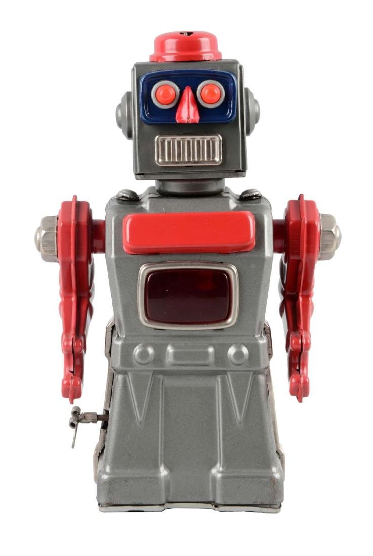Japanese Tin Litho Wind Up Tremendous Mike Robot.