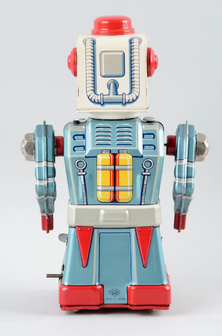 Japanese Tin Litho Wind-Up Chime Trooper Astronaut. - 2