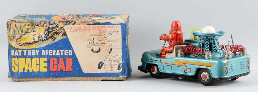Japanese Tin Litho Battery-Operated Robby Space Car. - 2