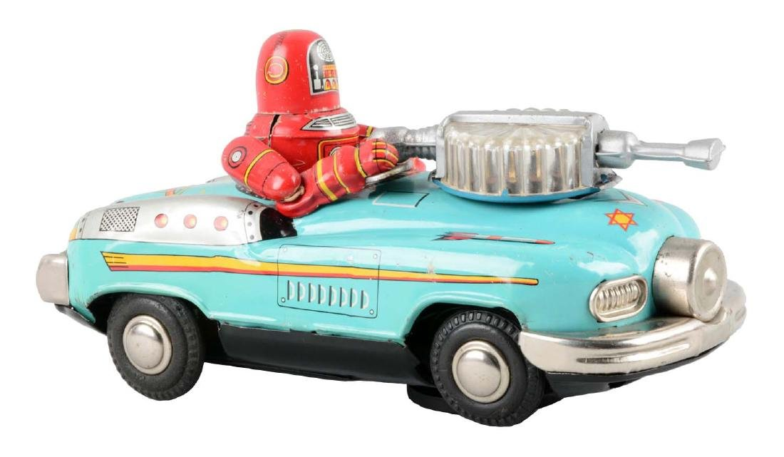 Japanese Tin Litho Battery Operated Robby Driving