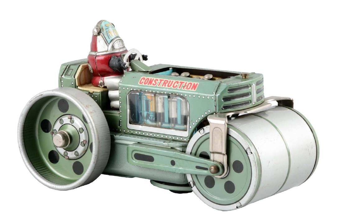 Japanese Tin Litho Battery-Operated Robby Roller.