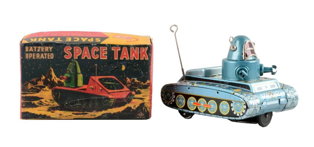 Japanese Tin Litho Battery-Operated V2 Robby Space