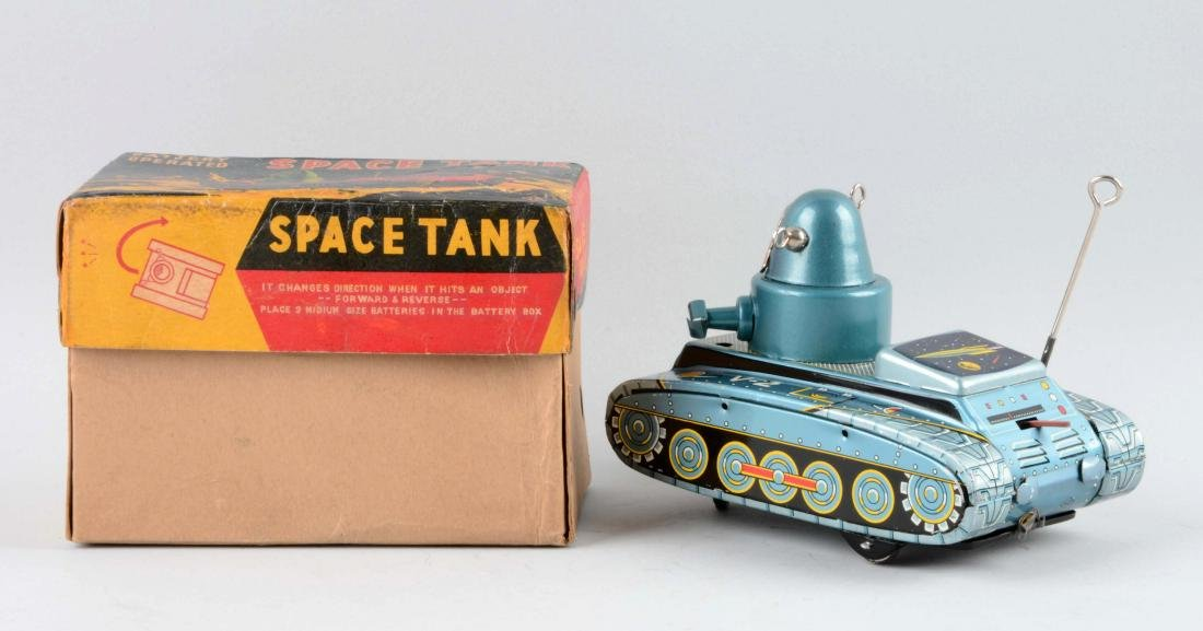 Japanese Tin Litho Battery-Operated V2 Robby Space - 2