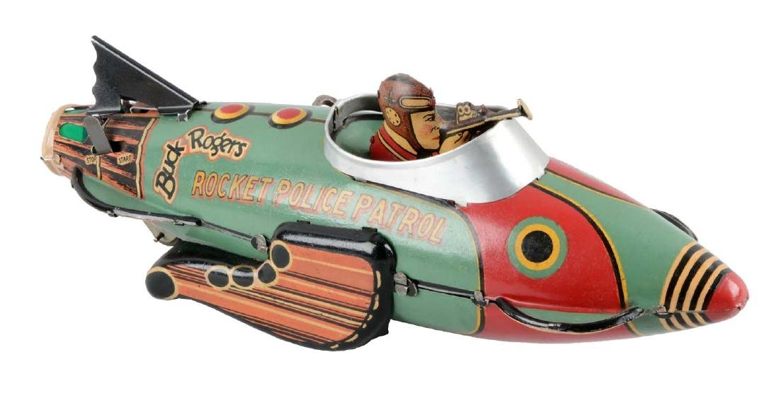 Marx Tin Litho Wind-Up Buck Rogers Rocket Police