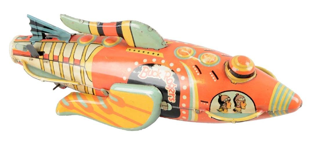 Marx Tin Litho Wind-Up Buck Rogers Rocket Fighter.