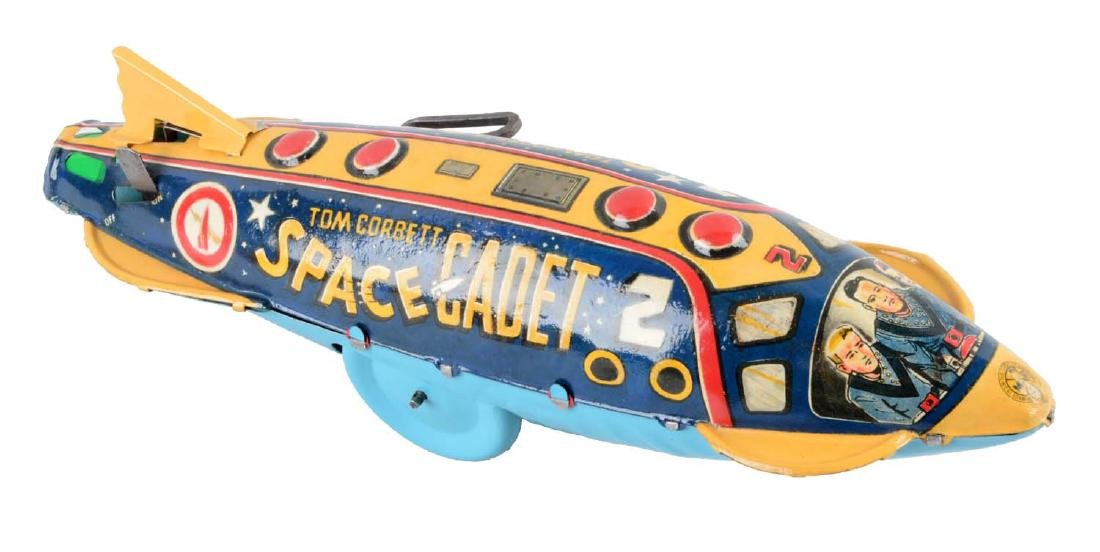 Marx Tin Litho Wind-Up Tom Corbett Space Cadet Fighter.