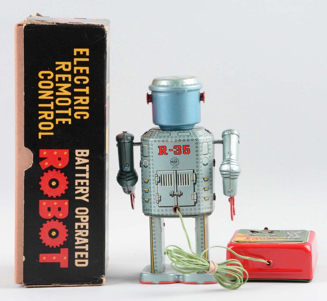 Japanese Linemar Tin Litho R-35 Robot. - 2