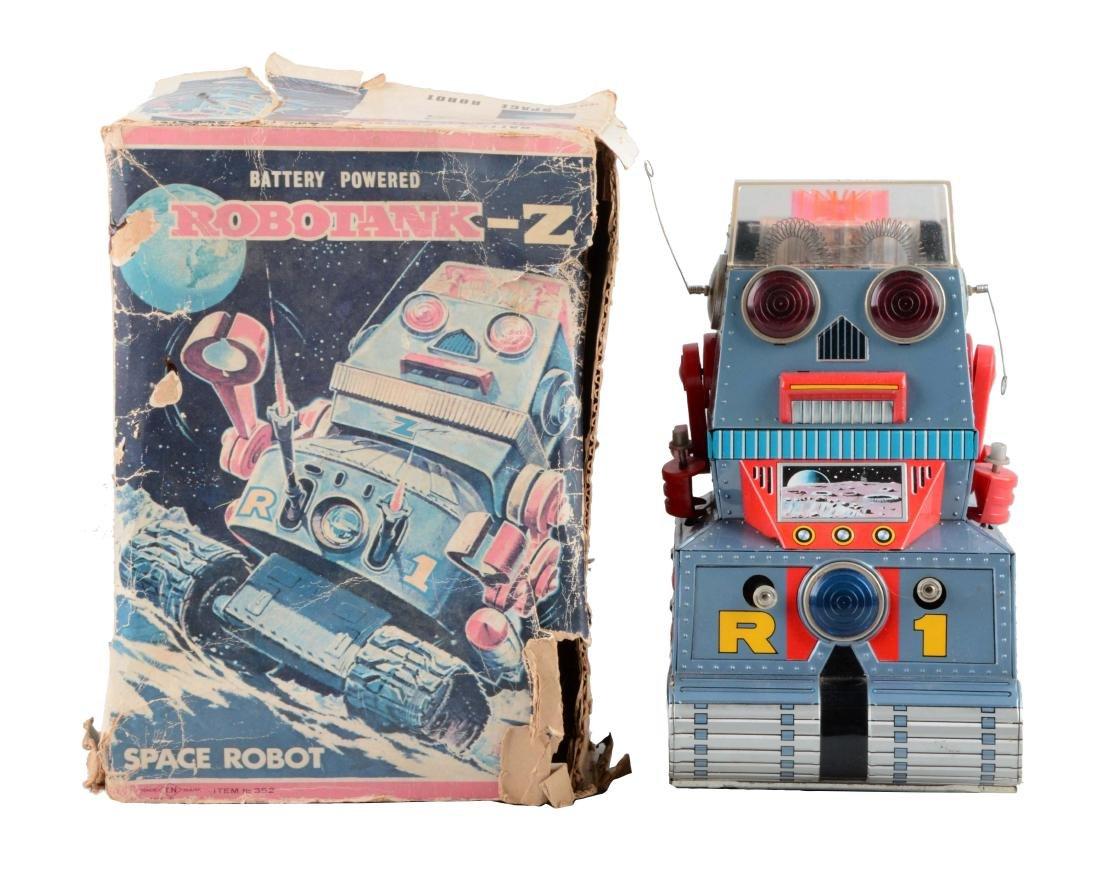 Japanese Battery-Operated Tin Litho Robotank-Z Space