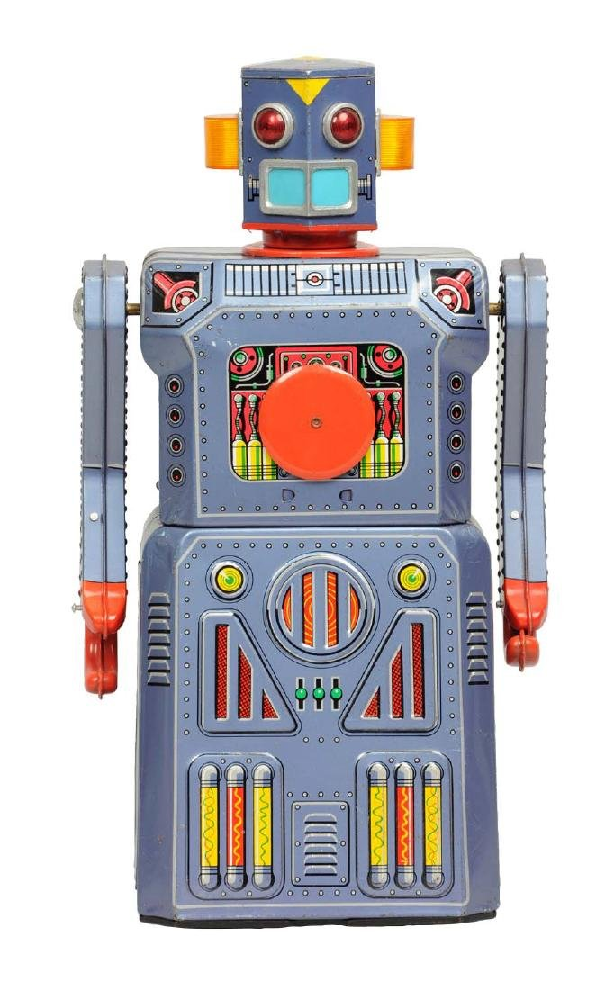 Japanese Tin Litho Battery-Operated Target Gang Of 5
