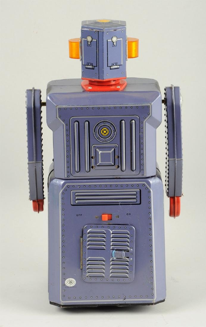 Japanese Tin Litho Battery-Operated Target Gang Of 5 - 2