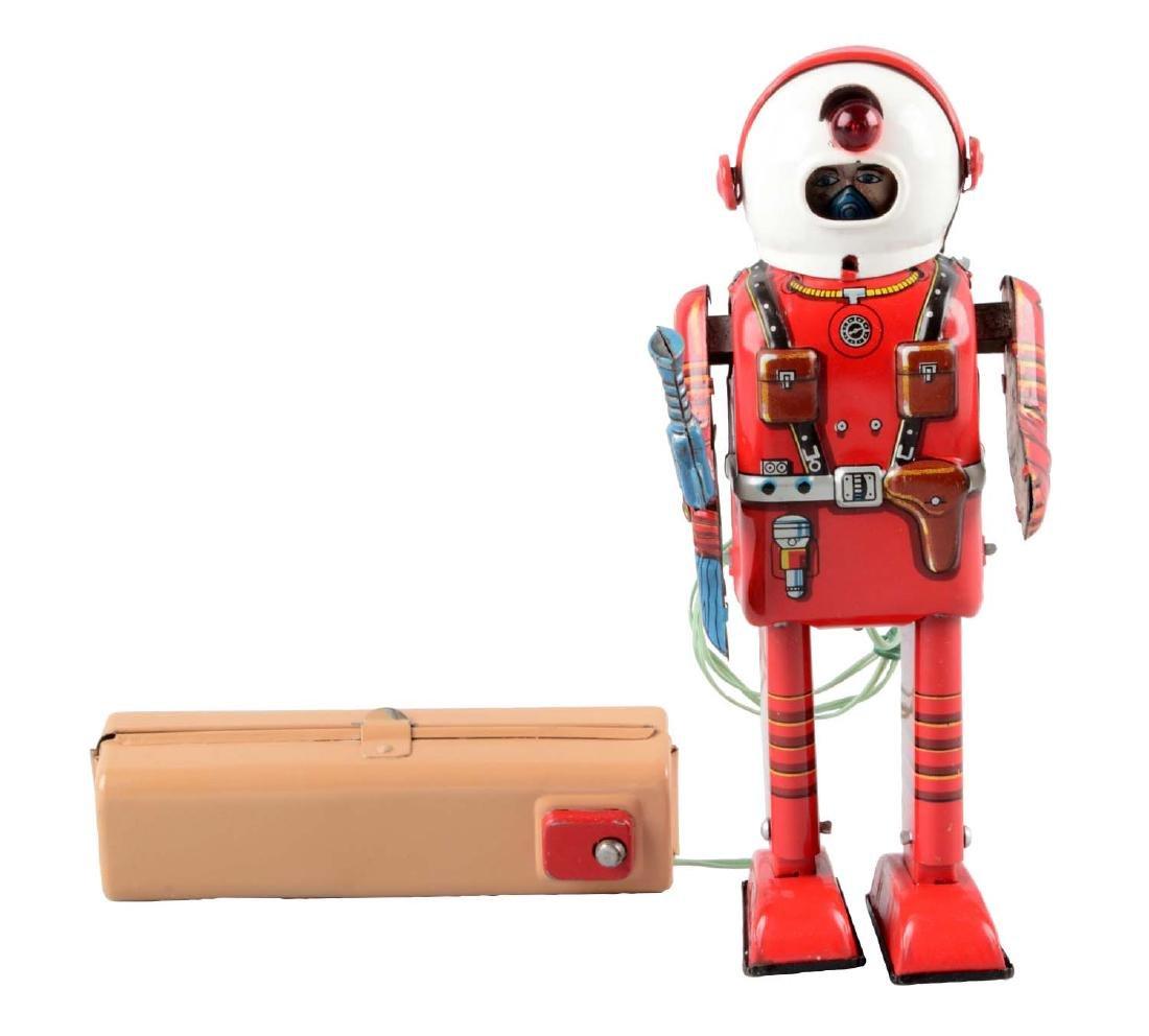 Japanese Tin Litho Space Man (Porthole Robot).