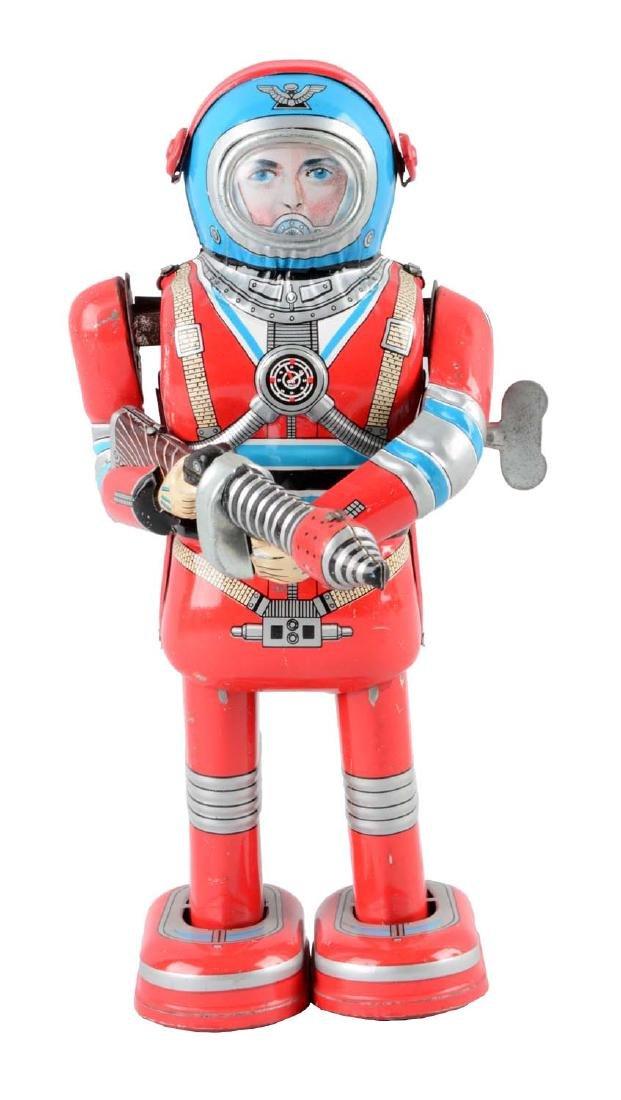 Japanese Tin Litho Wind Up Moon Astronaut.