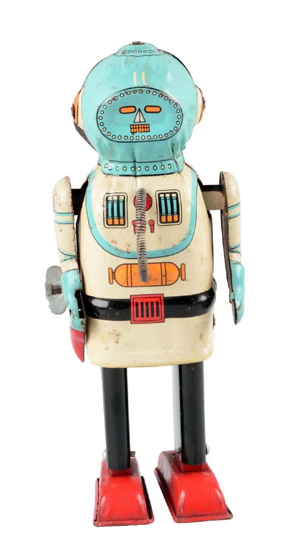 Japanese Tin Litho Wind Up Interplanet Space Captain.