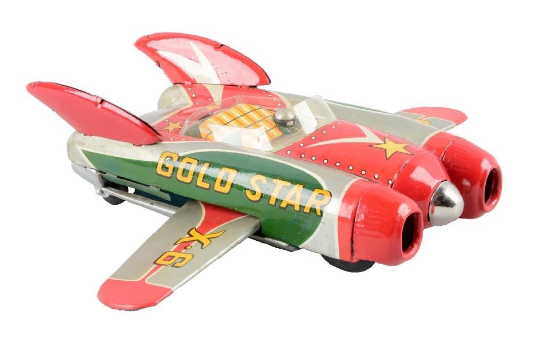 Japanese Tin Litho Friction Space Gold Star Vehicle.