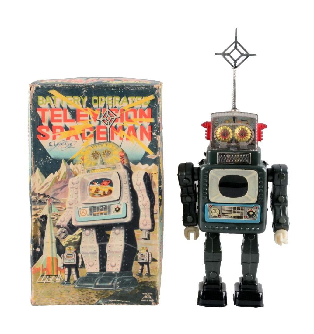 Japanese Tin Litho Battery Operated Television