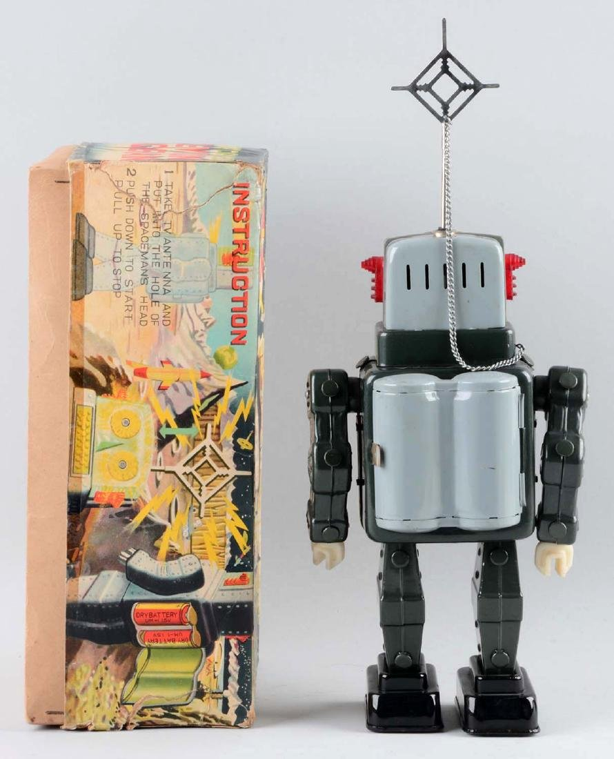 Japanese Tin Litho Battery Operated Television - 2