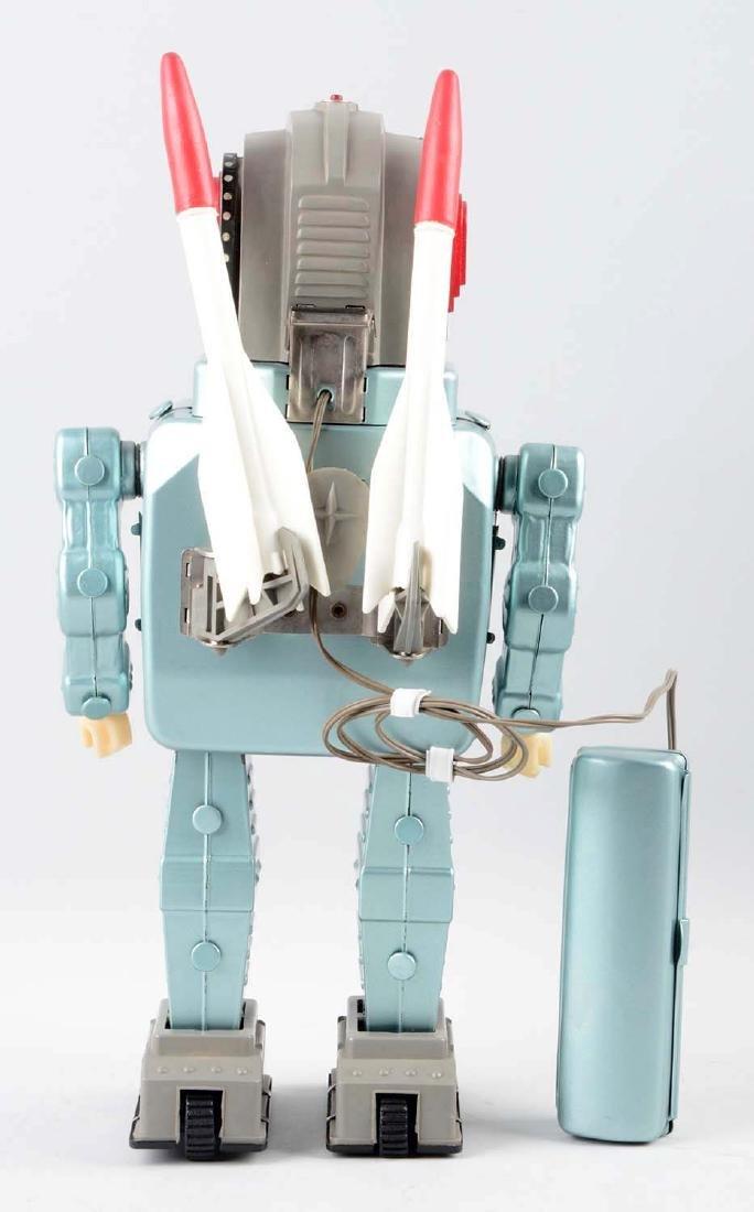 Japanese Tin & Plastic Battery Operated Rocket Man - 2