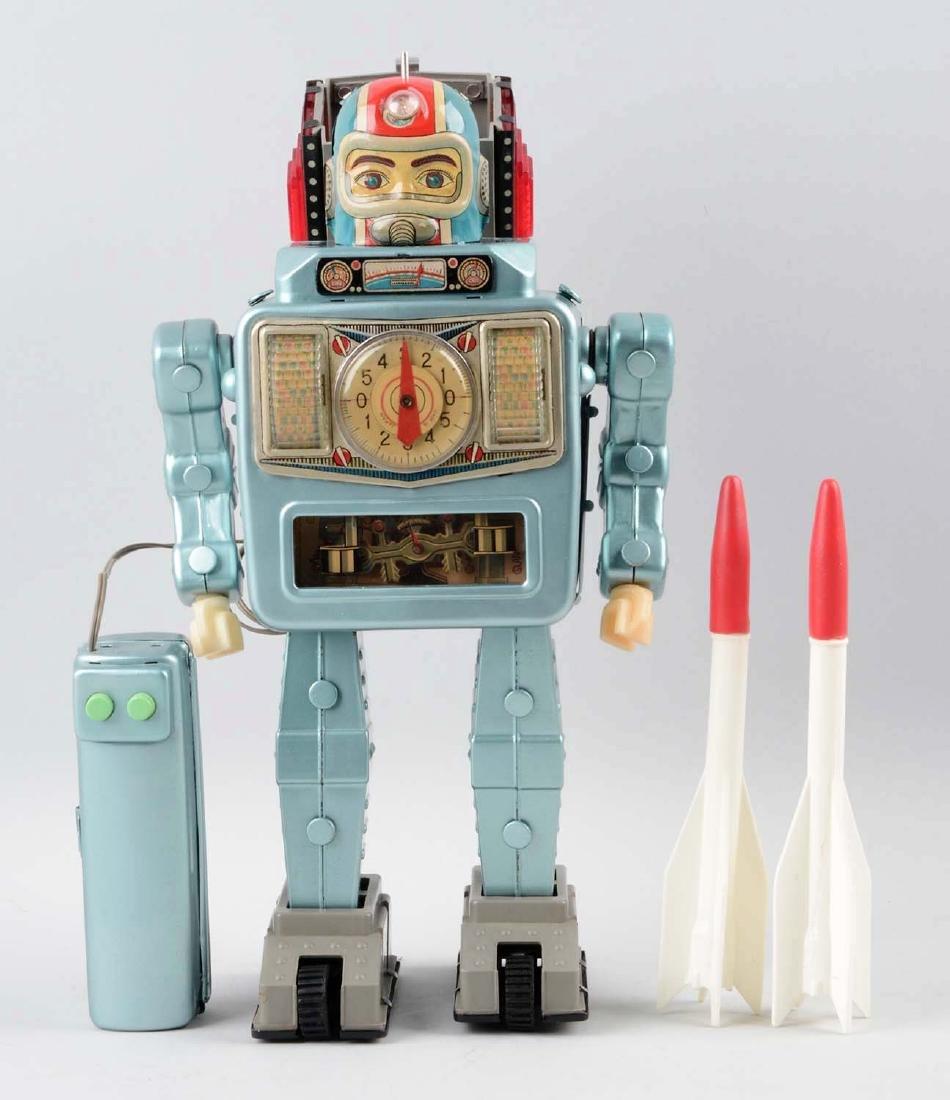 Japanese Tin & Plastic Battery Operated Rocket Man - 3
