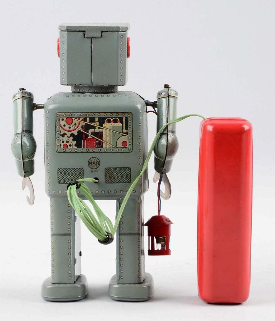 Japanese Tin Litho Battery-Operated Lantern Robot. - 2