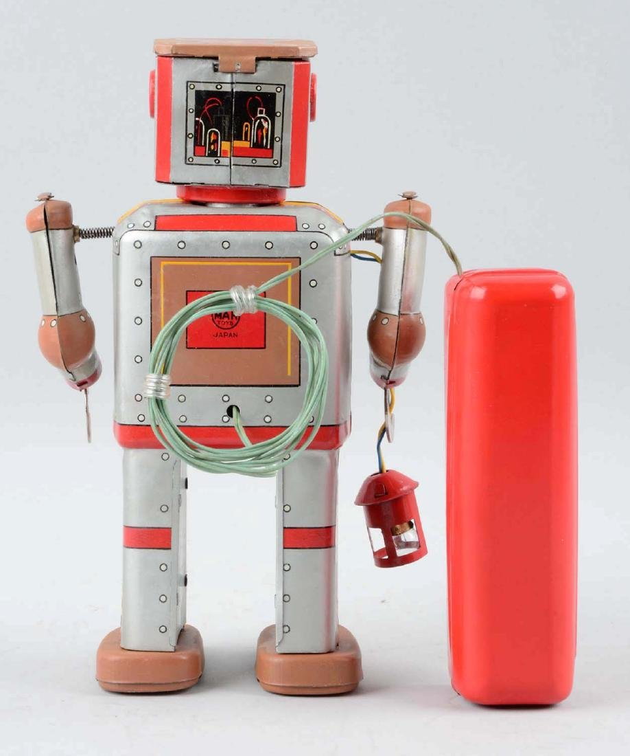 Japanese Tin Litho Battery-Operated Lantern Robot. - 3
