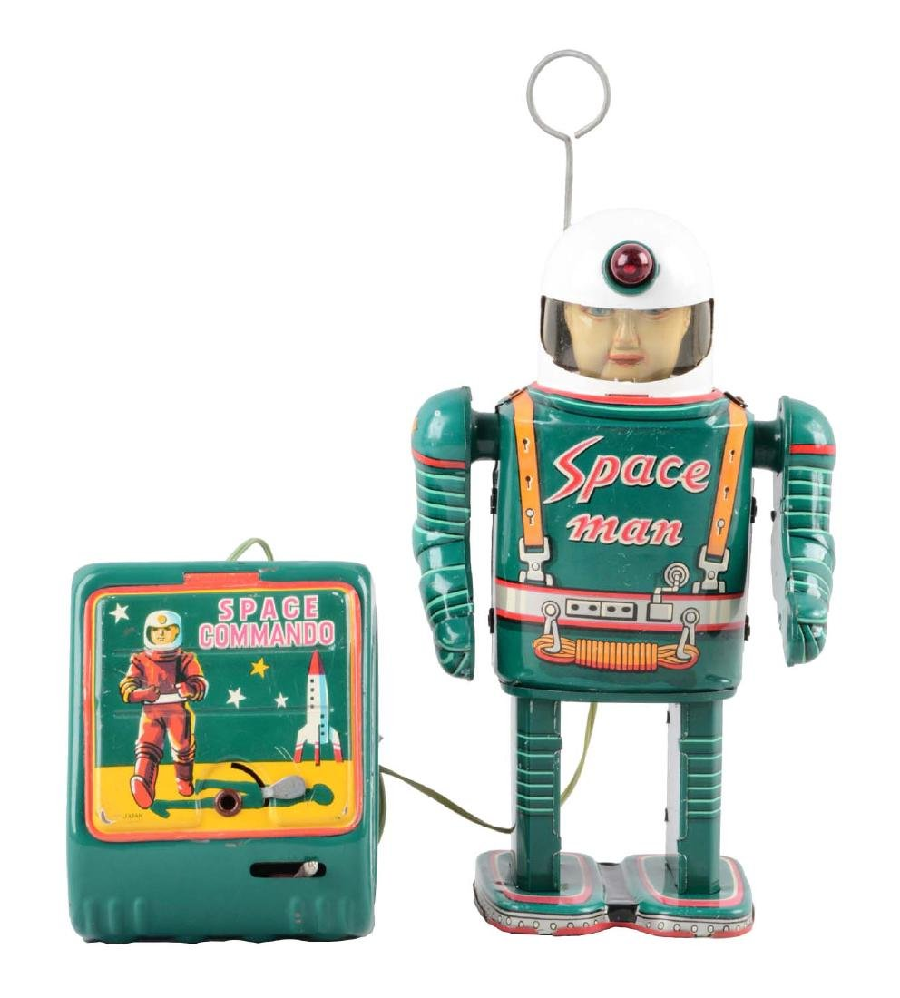Japanese Tin Litho Battery-Operated Space Man.