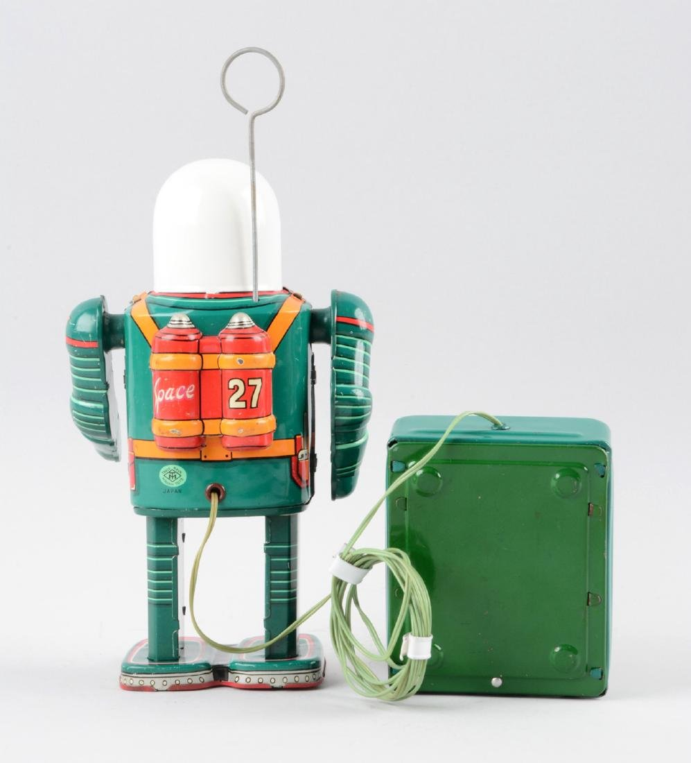 Japanese Tin Litho Battery-Operated Space Man. - 2
