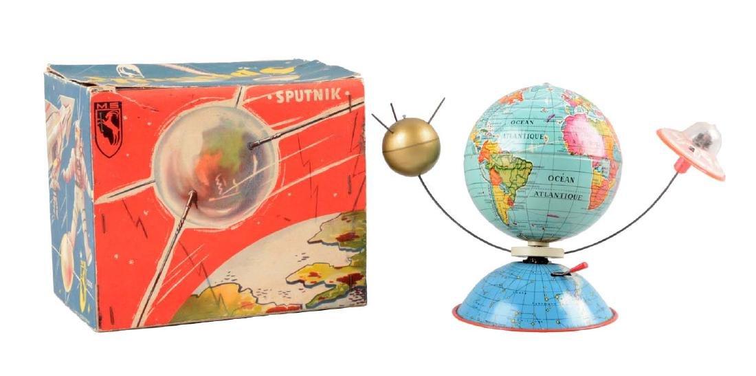 German Tin Litho Wind-Up Sputnik Toy.