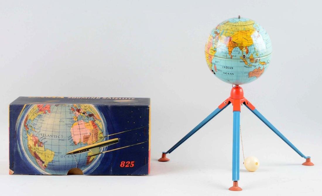 German Gama Tin Litho Wind-Up Zooming Satellite Toy. - 2