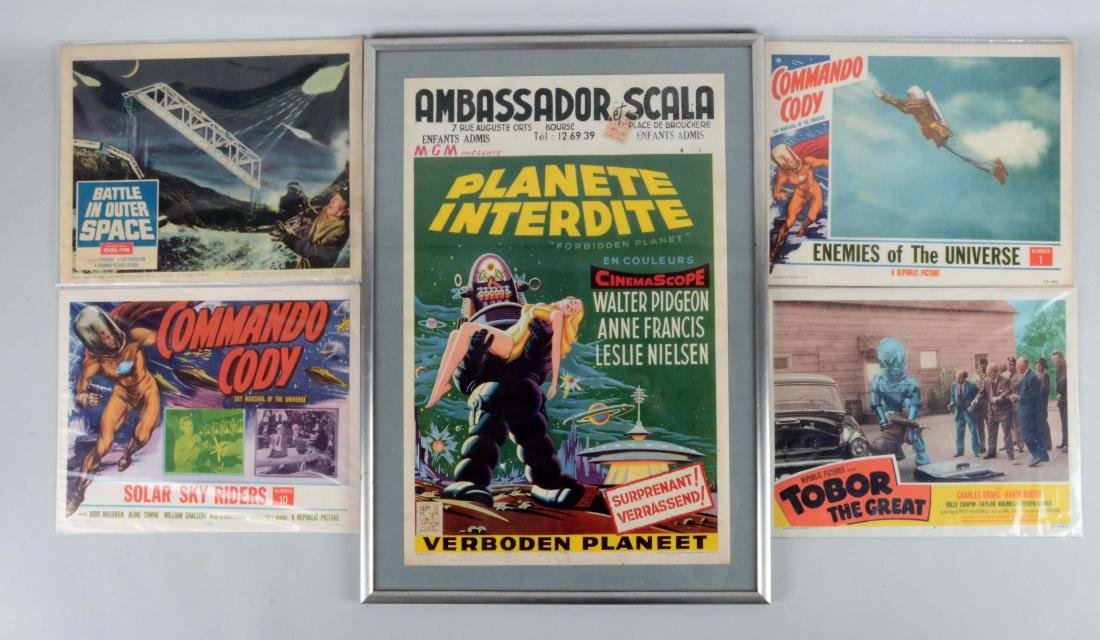 Lot Of 5: Space Related Movie Poster & Lobby Cards.