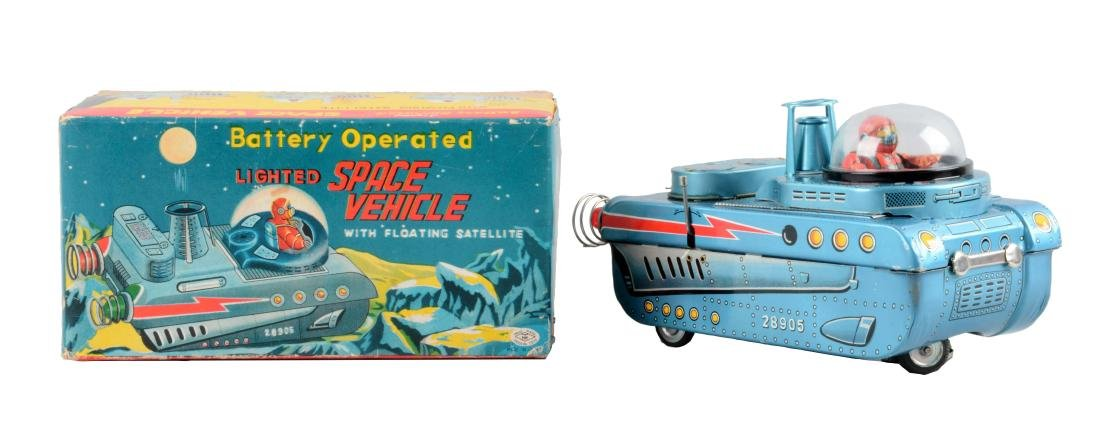 Japanese Tin Litho Battery-Operated Space Vehicle With