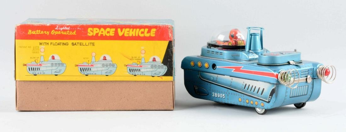 Japanese Tin Litho Battery-Operated Space Vehicle With - 2