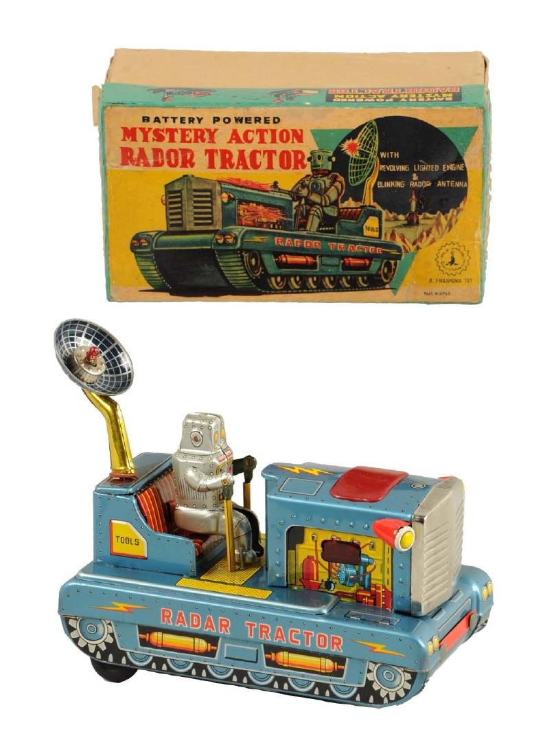 Japanese Tin Litho Radar Robot Tractor.