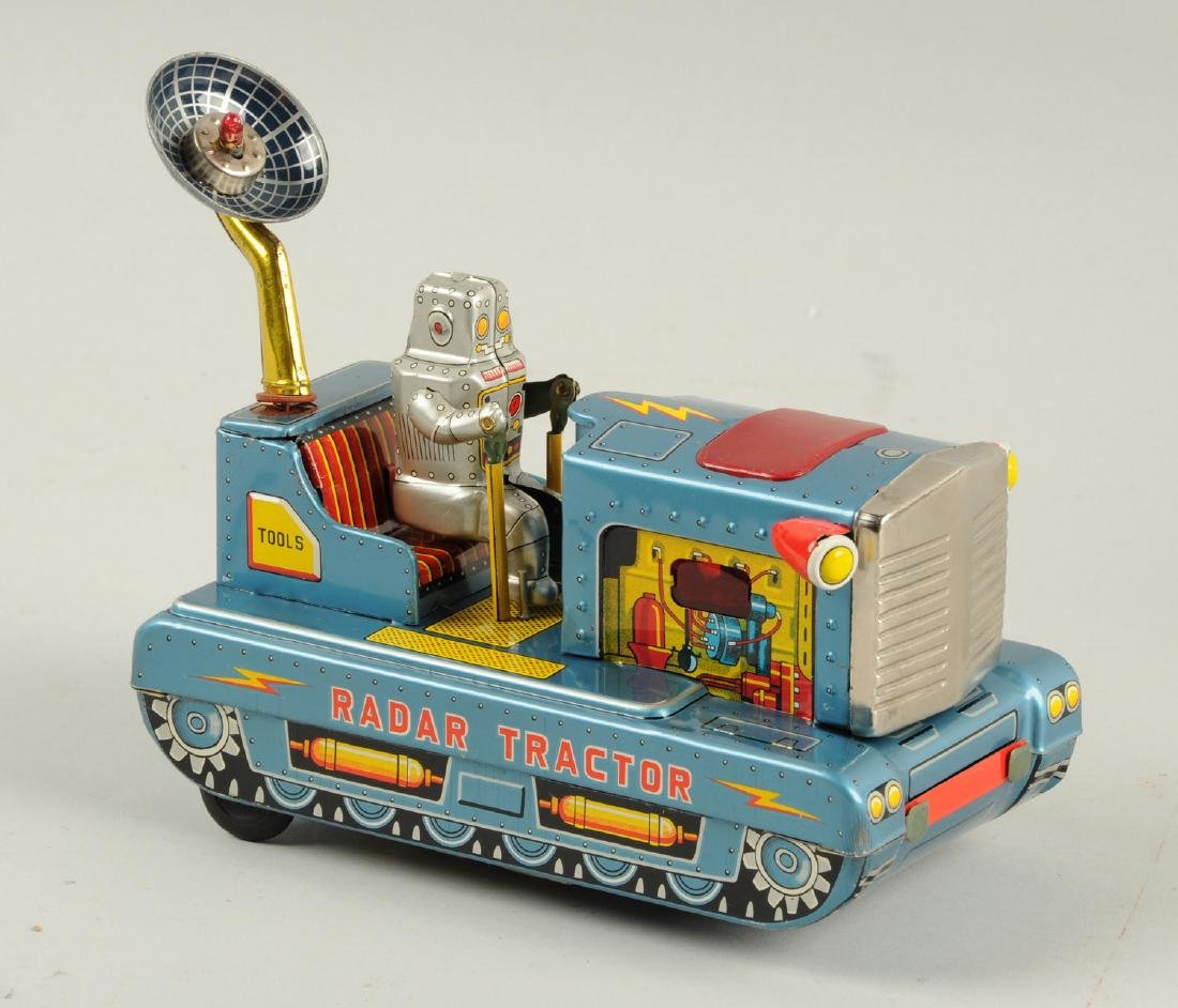 Japanese Tin Litho Radar Robot Tractor. - 2