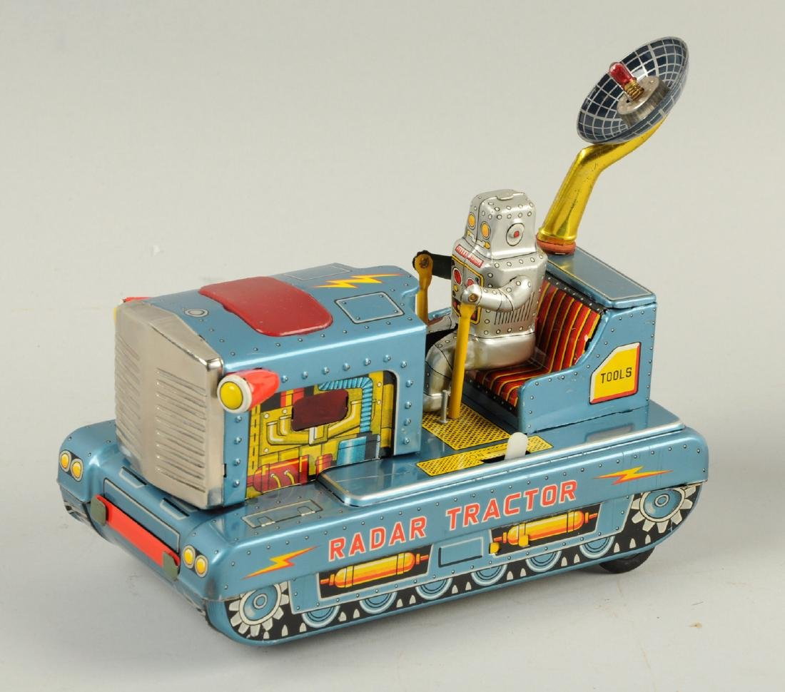 Japanese Tin Litho Radar Robot Tractor. - 3