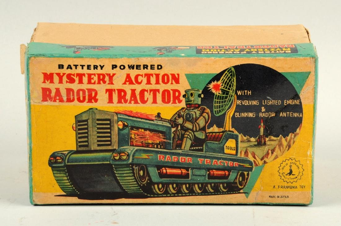 Japanese Tin Litho Radar Robot Tractor. - 4