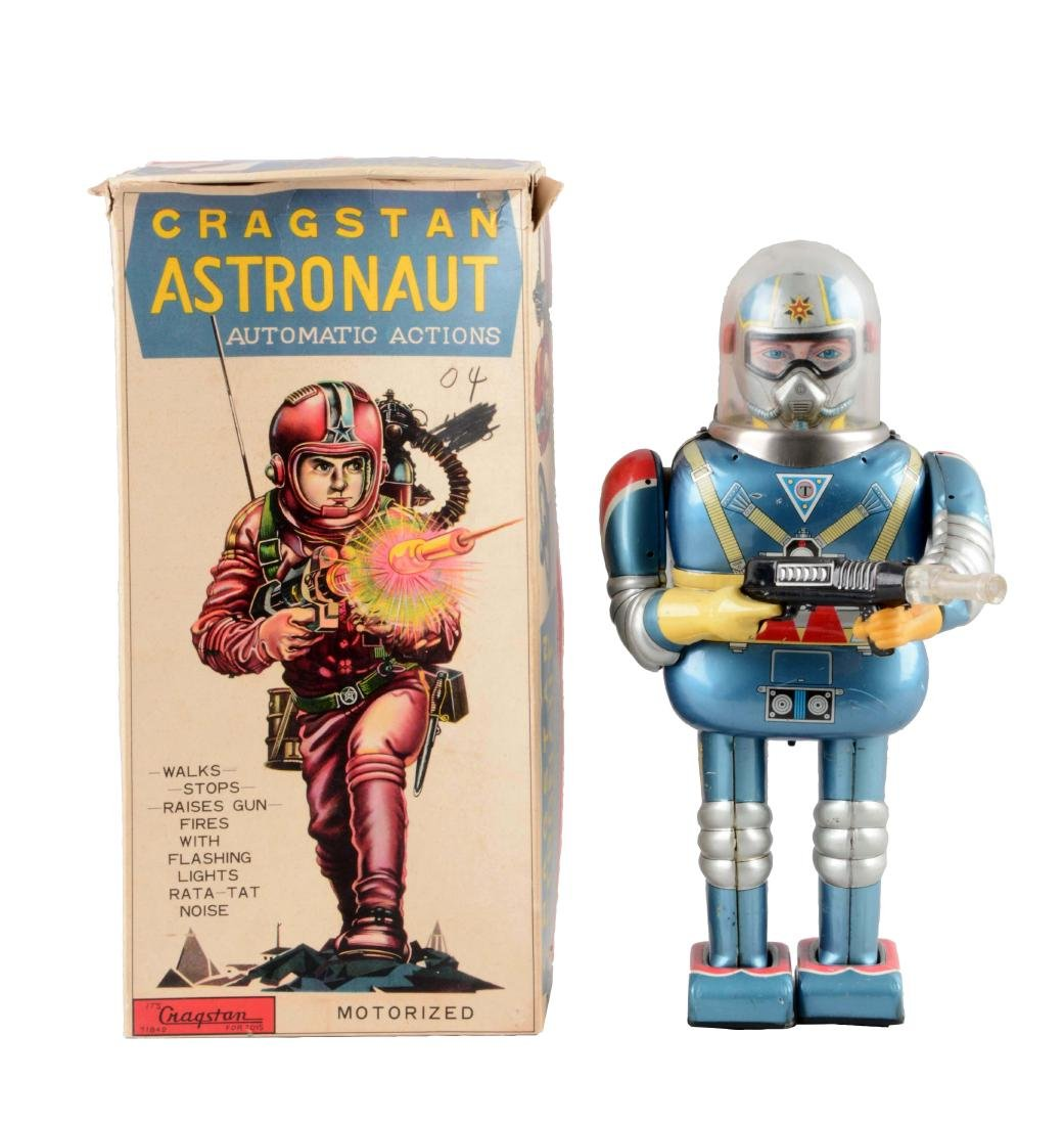Japanese Tin Litho Battery Operated Cragstan Astronaut.