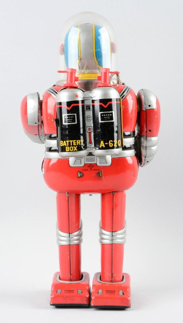 Japanese Tin Litho Battery Operated Cragstan Astronaut. - 2