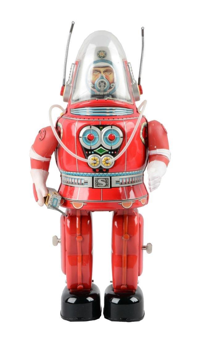 Japanese Tin Litho Battery Operated Rosco Astronaut.