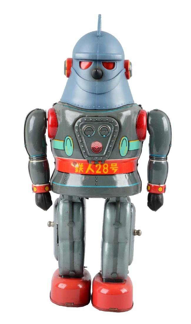 Japanese Tin Litho Battery Operated Tetsujin T-28 Super