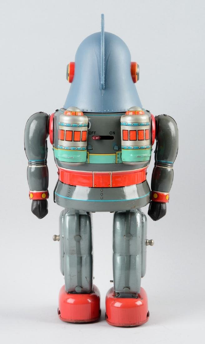 Japanese Tin Litho Battery Operated Tetsujin T-28 Super - 2