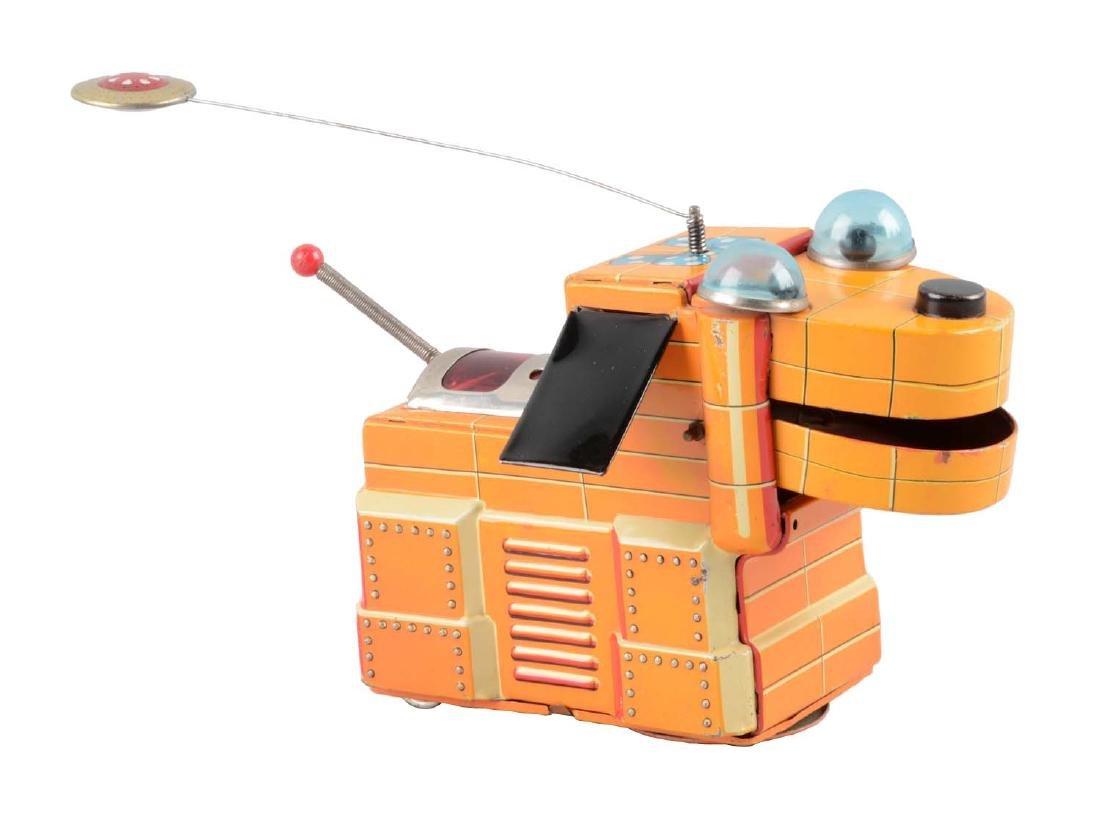 Japanese Tin Litho Battery Operated Magic Space Dog.
