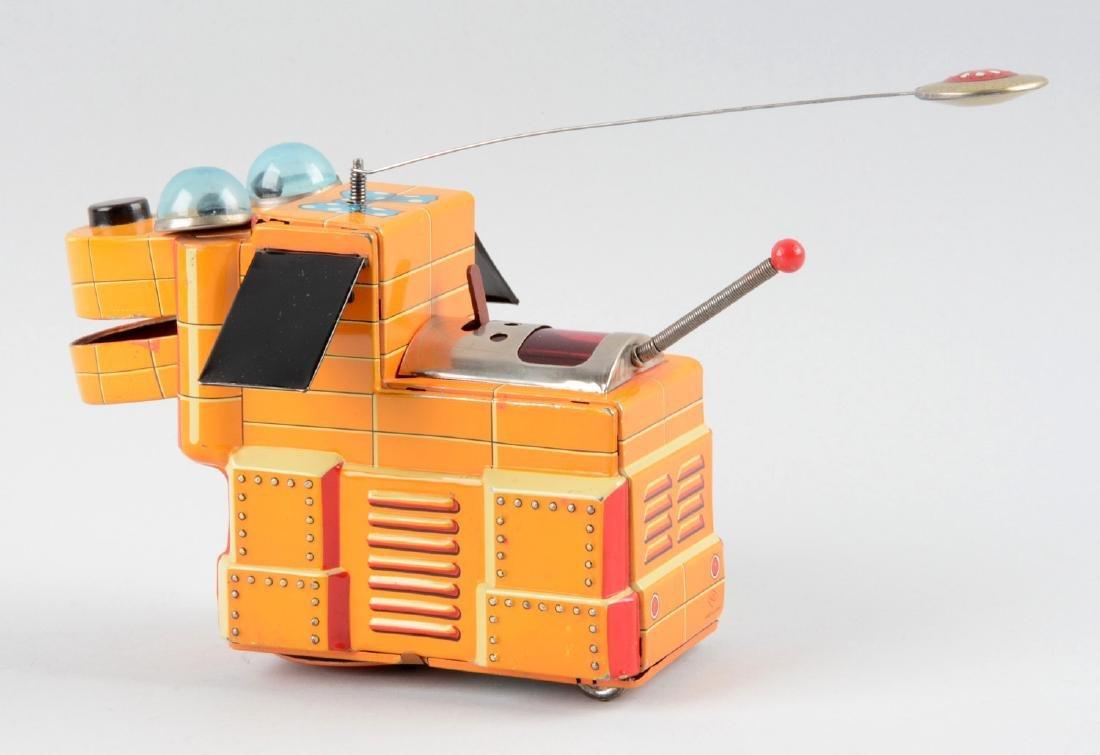 Japanese Tin Litho Battery Operated Magic Space Dog. - 2